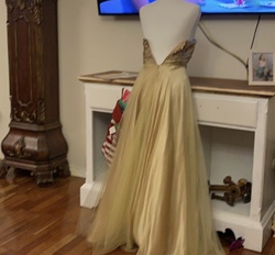 Dancing Queen Gold Size 2 Ball gown on Queenly