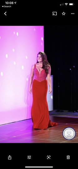 Queenly size 10 Johnathan Kayne Red Mermaid evening gown/formal dress