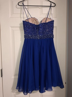 Sherri Hill Blue Size 4 Sorority Formal Cocktail Dress on Queenly