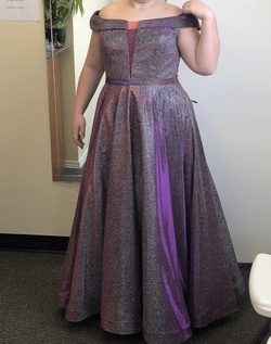 Queenly size 16  Purple Ball gown evening gown/formal dress