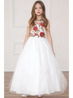 Queenly size 00 Calla Collection  White Ball gown evening gown/formal dress