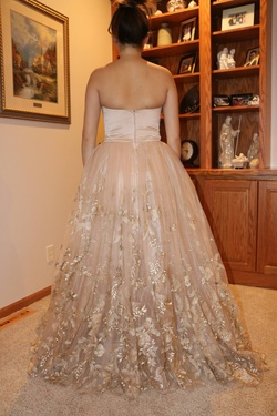 Sherri Hill Nude Size 6 Prom Ball gown on Queenly