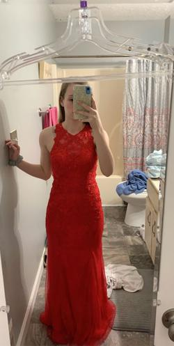 Queenly size 4  Red Straight evening gown/formal dress