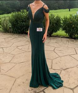 Queenly size 2  Green Train evening gown/formal dress