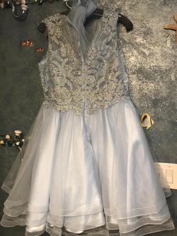May Queen Blue Size 14 Flare Ball gown on Queenly