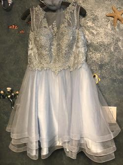 Queenly size 14 May Queen Blue Ball gown evening gown/formal dress