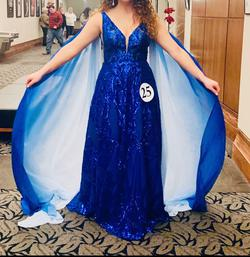 Queenly size 8  Blue Ball gown evening gown/formal dress