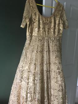 Queenly size 12  Gold Ball gown evening gown/formal dress