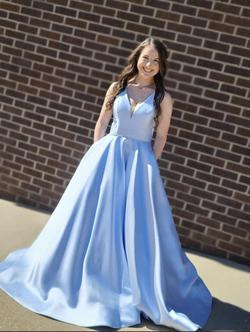 Sherri Hill Light Blue Size 2 Prom Ball gown on Queenly