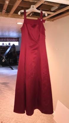 Davids Bridal Red Size 00 Graduation Halter Wedding Guest Straight Dress on Queenly