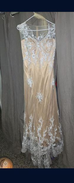 Queenly size 18  Nude Train evening gown/formal dress