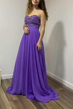 Queenly size 4  Purple A-line evening gown/formal dress