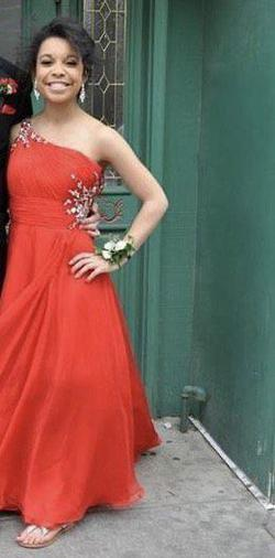 Queenly size 2  Red Straight evening gown/formal dress