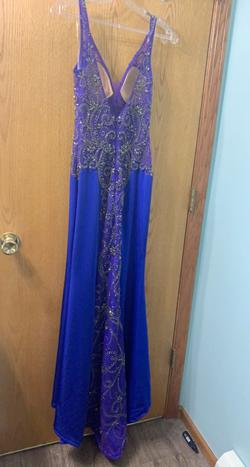 Mori Lee Royal Blue Size 2 Straight Dress on Queenly
