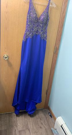 Queenly size 2 Mori Lee Blue Straight evening gown/formal dress