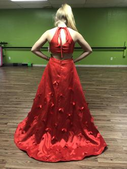 Red Size 10 Train Dress on Queenly