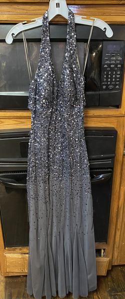 Queenly size 2  Silver Mermaid evening gown/formal dress