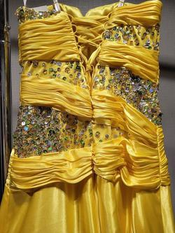 Style 3255 Karishma Creations Yellow Size 2 Jewelled Tall Height A-line Dress on Queenly