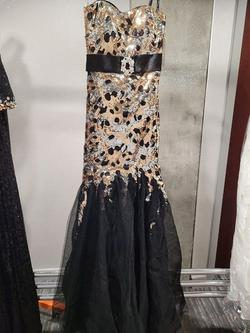 Style 2672 Princess Collection Multicolor Size 6 Jewelled Belt Tall Height Mermaid Dress on Queenly