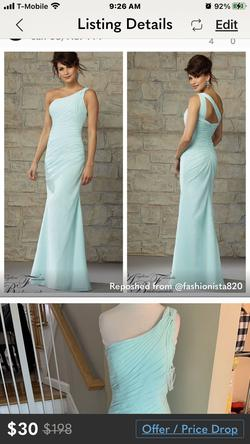 Morilee Green Size 12 Prom A-line Dress on Queenly