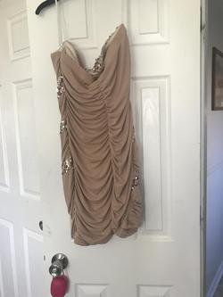 de Gold Size 16 Homecoming Mini Cocktail Dress on Queenly