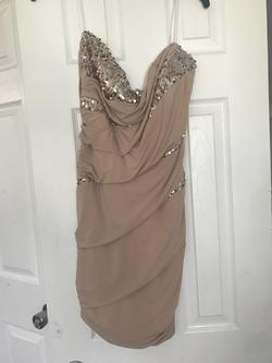 de Gold Size 16 Strapless Cocktail Dress on Queenly
