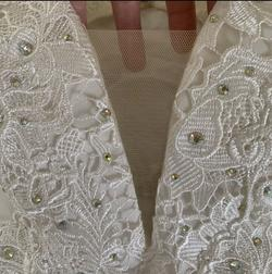 Panoply White Size 4 Wedding Lace Straight Dress on Queenly