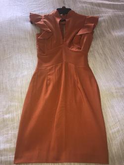 Hybrid Orange Size 0 Interview Straight Dress on Queenly