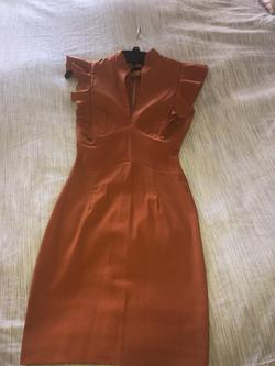Queenly size 0 Hybrid Orange Straight evening gown/formal dress
