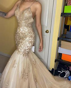 Queenly size 4  Gold Mermaid evening gown/formal dress
