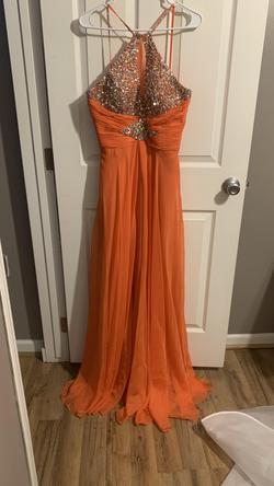 Queenly size 12  Orange Straight evening gown/formal dress