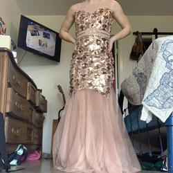 Ever Pretty Pink Size 6 Sequin Mermaid Dress on Queenly