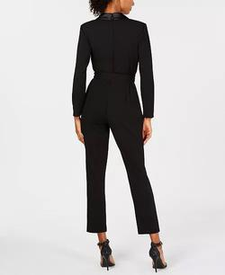 Adrianna Papell Black Size 6 Jumpsuit Dress on Queenly