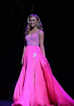 Style Couture Jovani Pink Size 2 Tulle Pageant Side slit Dress on Queenly