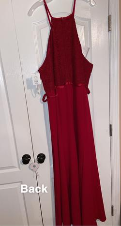 Red Size 24 Straight Dress on Queenly