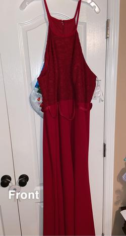 Queenly size 24  Red Straight evening gown/formal dress