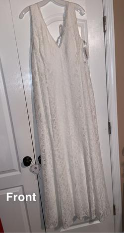 Queenly size 22  White Straight evening gown/formal dress