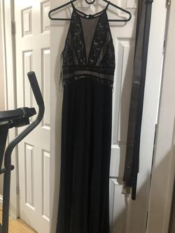 Queenly size 10  Black Straight evening gown/formal dress