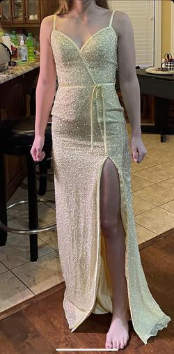 Queenly size 2  Yellow Side slit evening gown/formal dress