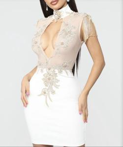 Queenly size 2 Fashion Nova White Cocktail evening gown/formal dress