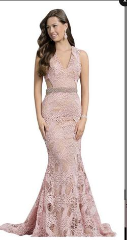 Queenly size 0 Terani Couture Pink Straight evening gown/formal dress