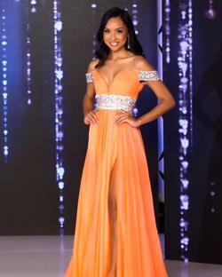 Orange Size 2 Side slit Dress on Queenly