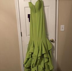 Green Size 00 Train Dress on Queenly