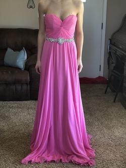 Jovani Pink Size 00 Strapless A-line Dress on Queenly