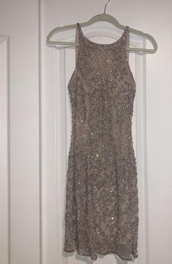 Queenly size 2 Sherri Hill Nude Cocktail evening gown/formal dress