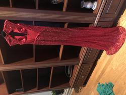 Claires Collection Red Size 6 Pageant Tall Height Straight Dress on Queenly