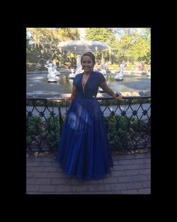 Style 50976 Blue Size 8 Ball gown on Queenly