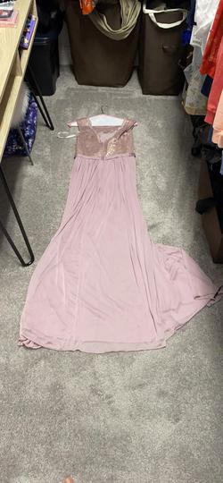 David's Bridal Pink Size 8 Lace Tulle Straight Dress on Queenly