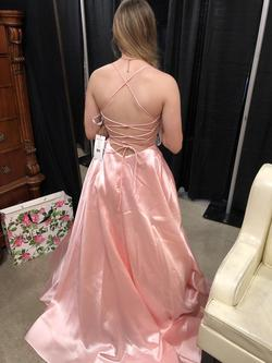 Sherri Hill Pink Size 2 Halter A-line Dress on Queenly