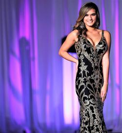 Style 63350 Jovani Black Size 4 Pageant Tall Height Mermaid Dress on Queenly